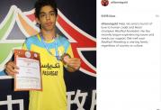 پیام قهرمان کشتی جهان به کشتی گیر نوجوان مصدوم ایران