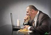 مقابله با پرخوری با کنترل استرس