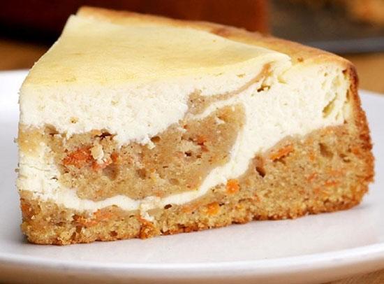 آموزش تهیه و طبخ چیزکیک با کیک هویج