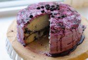 کیک بلوبری با طعمی متفاوت