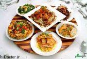 نمونه ناهار و شام با کالری های مختلف