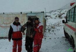 خدمات امدادی هلال احمر در برف و کولاک ۲۴ ساعت گذشته