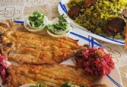 طبخ سبزی پلو در کنار ماهی