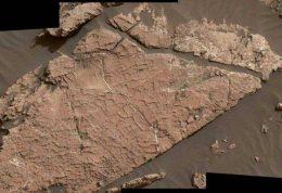 اولین علامت ترک های گل بر روی سطح مریخ