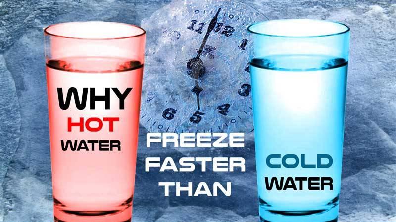 سریع تر یخ زدن آب داغ،آیا صحت دارد؟
