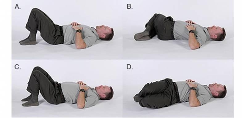 حرکت های ساده ورزشی برای درد کمر