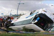 19 کشته به دلیل واژگونی اتوبوس در اصفهان
