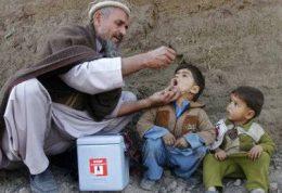 کاهش ابتلا به عارضه فلج اطفال در افغانستان