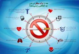 اتفاقات مفید در بدن پس از ترک سیگار