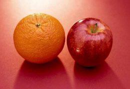 مقایسه ارزش تغذیه ای سیب با پرتقال