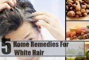 رفع سفیدی زودرس مو با محلول خانگی