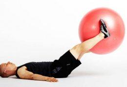 حرکت ورزشی مخصوص شکم با کمک توپ