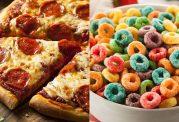 مقایسه کالری غلات صبحانه با پیتزا