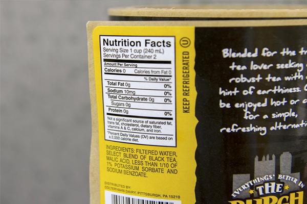 اطلاعات حک شده روی مواد غذایی
