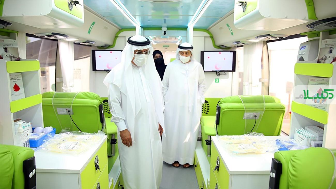 تردد اتوبوس هوشمند اهدای خون در سطح شهر دوبی