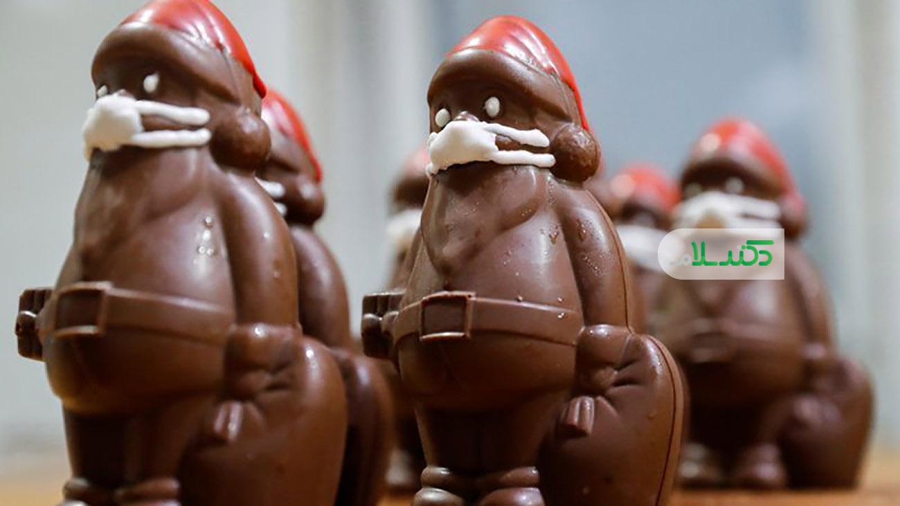 شکلات های بابانوئل با ماسک وارد بازار شد