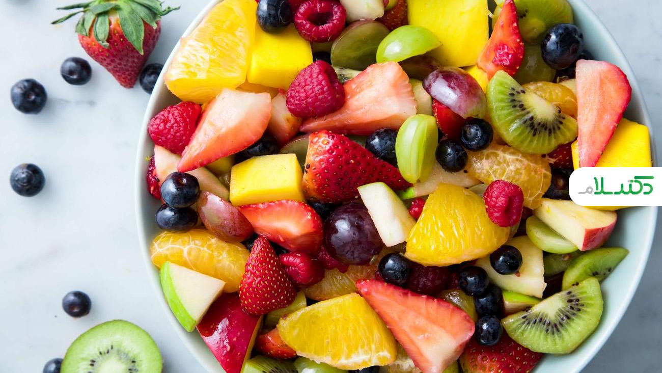 طرز تهیه سالاد میوه خوشرنگ و جذاب +ویدئو