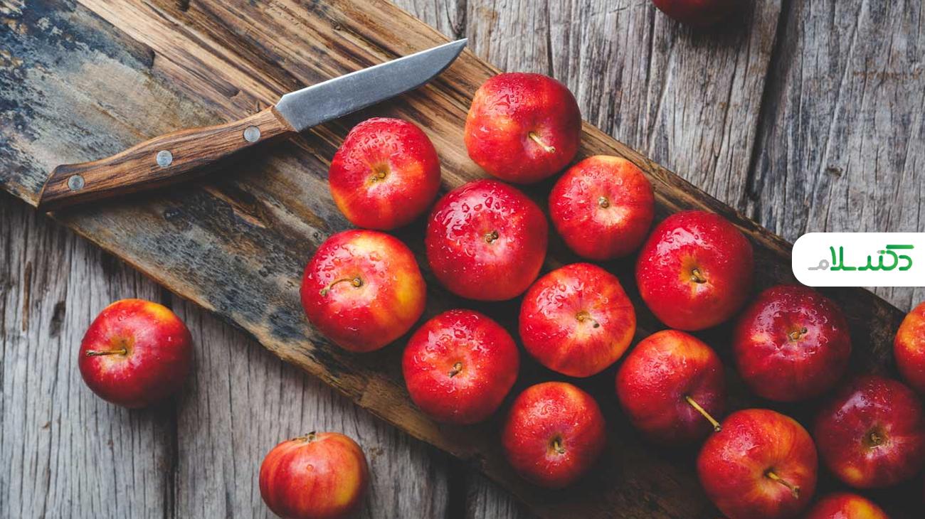 ماسک سیب برای شفاف شدن پوست