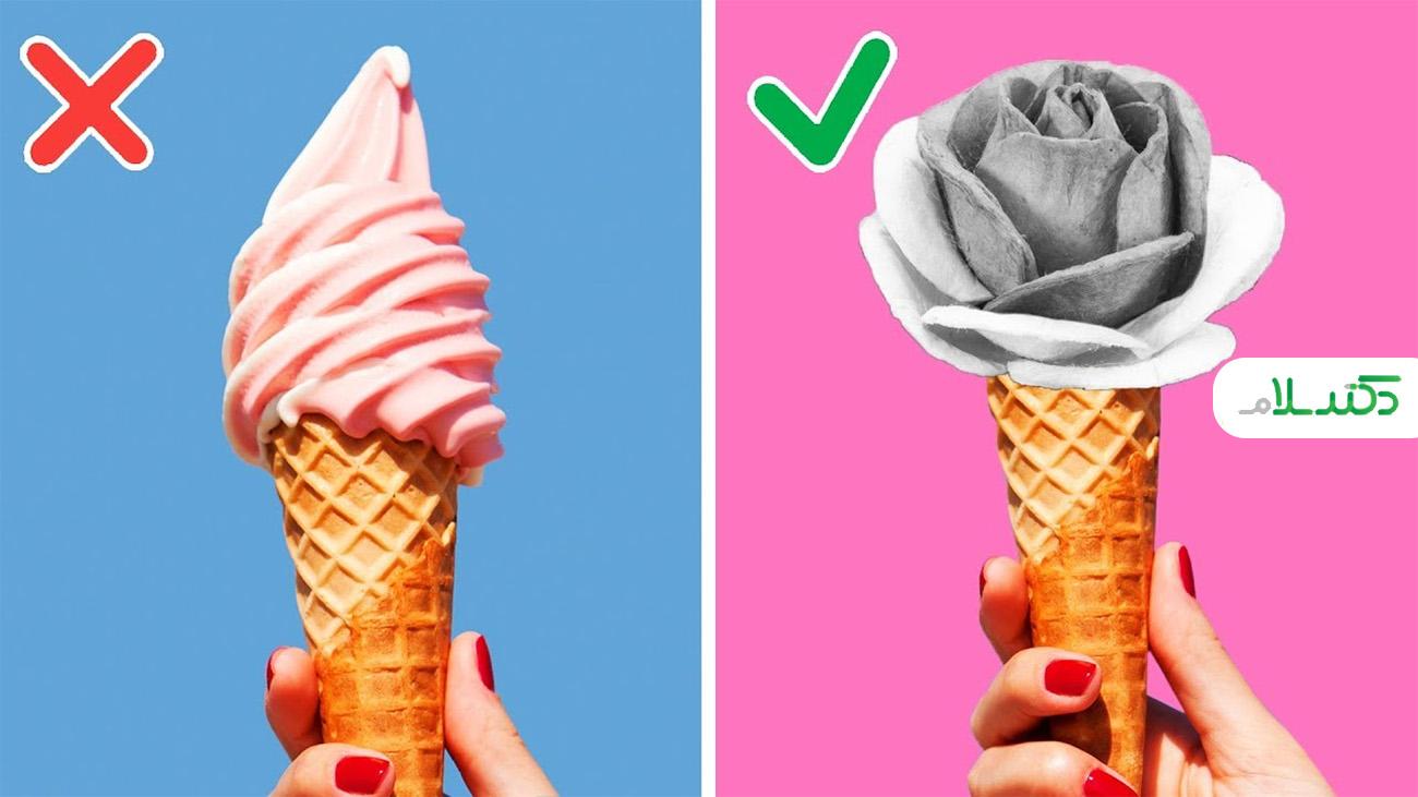 با این ایده های خلاق بستنی، شکلات و کیک خود را تزئین کنید +ویدئو